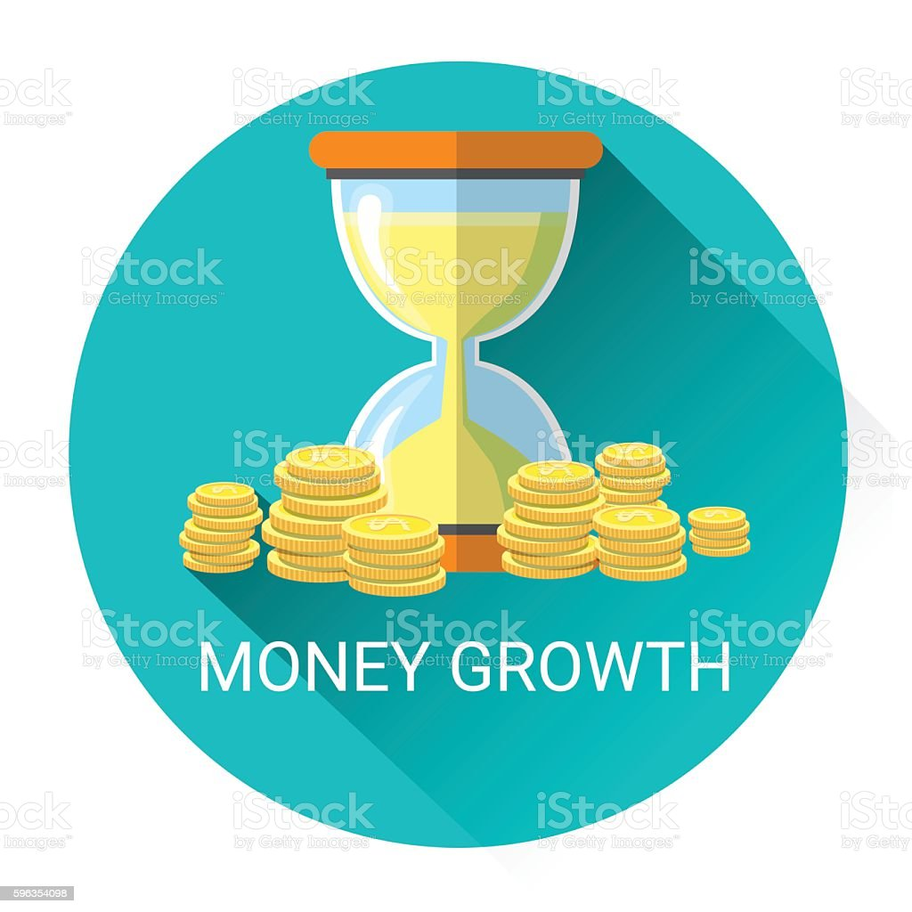 Money Growth Business Economy Icon royalty-free money growth business economy icon stock vector art & more images of bank