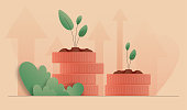 istock Money Growth Concept Vector Illustration. Flat Modern Design for Web Page, Banner, Presentation etc. 1203443473