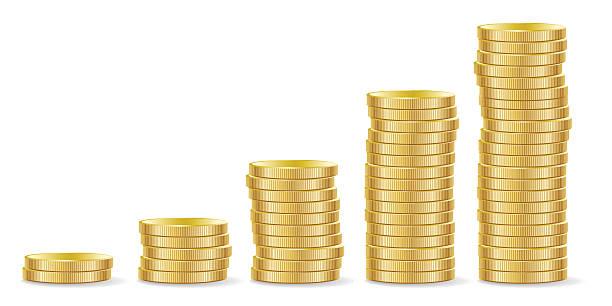 ilustrações, clipart, desenhos animados e ícones de o crescimento - moeda