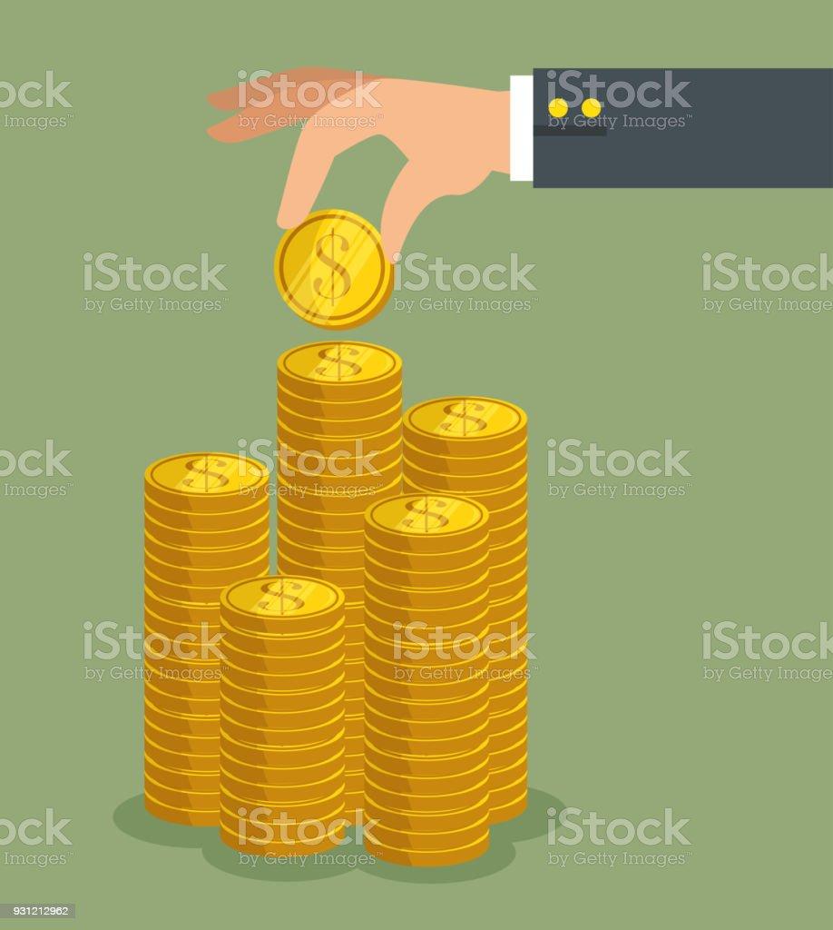 diseño de icono de dinero - ilustración de arte vectorial