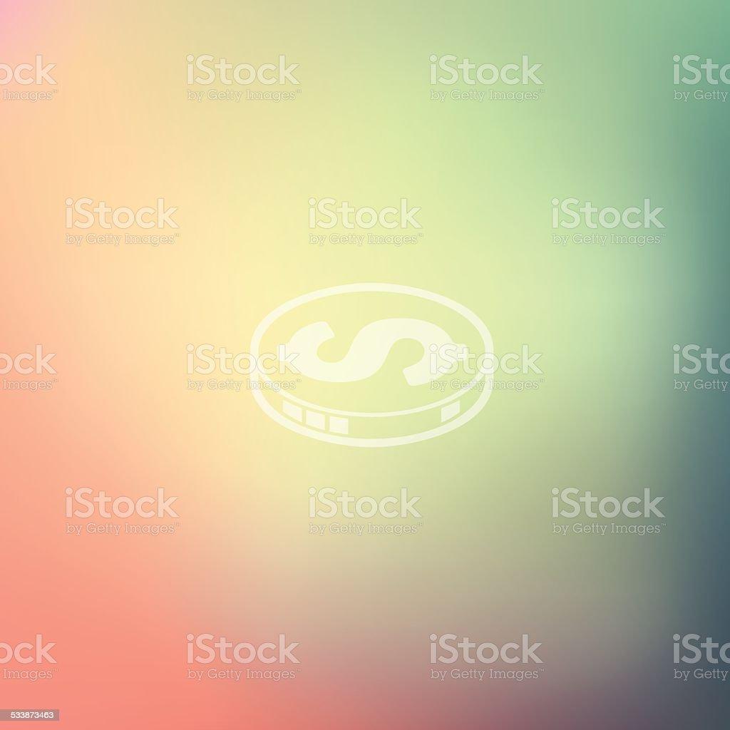 money icon on blurred background vector art illustration