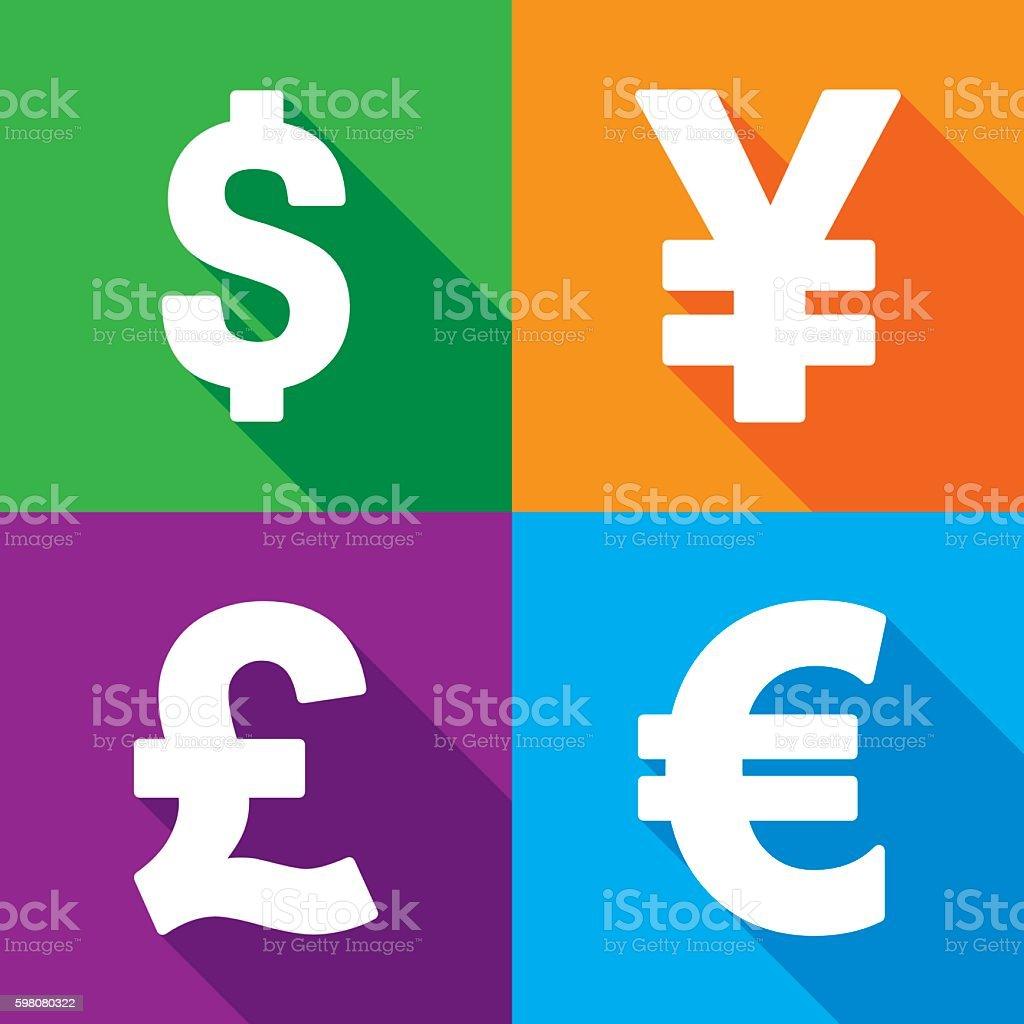 Money Icon Set vector art illustration