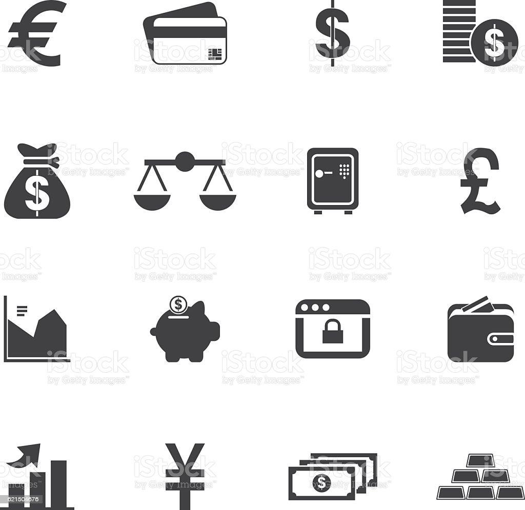 Set di icone di soldi set di icone di soldi - immagini vettoriali stock e altre immagini di affari finanza e industria royalty-free
