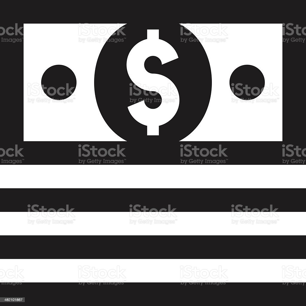 Money icon royalty-free money icon stock vector art & more images of american one dollar bill
