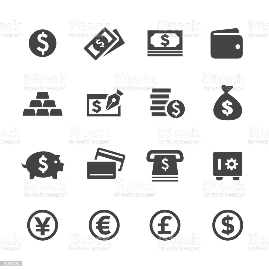 Money Icons - Acme Series - Векторная графика Американская валюта роялти-фри