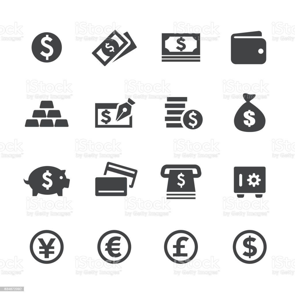 Icônes de l'argent - Acme série - Illustration vectorielle