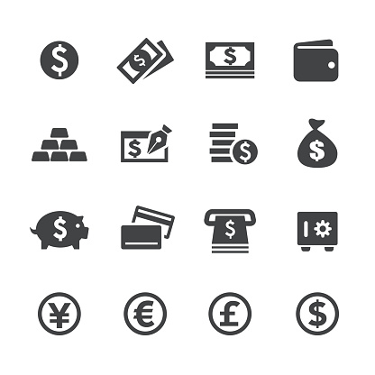 Money Icons Acme Series Stock Illustration - Download Image Now