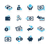 Vector money related icons for your web or printing proyects.