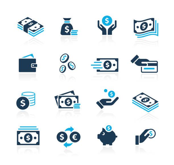 貨幣圖示 // azure 系列 - money 幅插畫檔、美工圖案、卡通及圖標