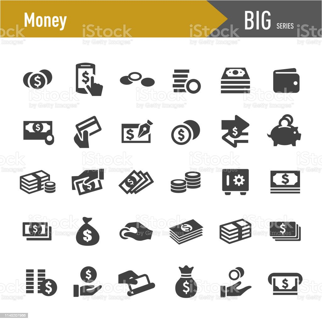 Money Icons - Big Series Money, Finance, ATM stock vector