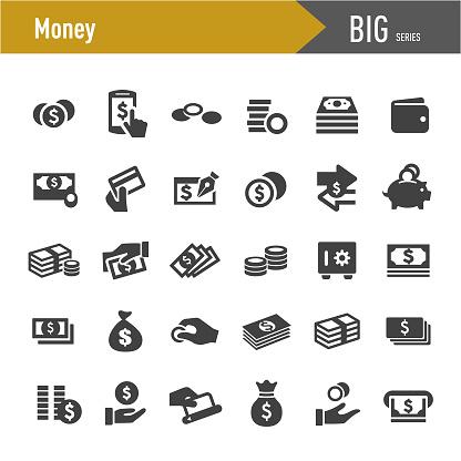 Money Icons Big Series Stock Illustration - Download Image Now