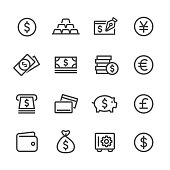 Money Icons - Line Series