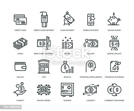 Money Icons - Line Series