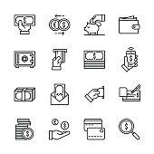 Money icons - Line