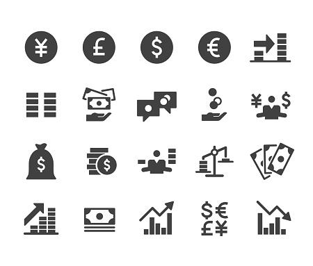 Money Icons Set - Classic Series