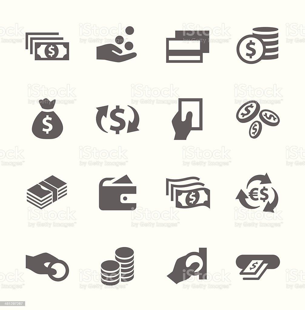 Money icons set. vector art illustration