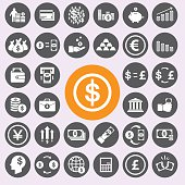 Money icons set .Vector/EPS10