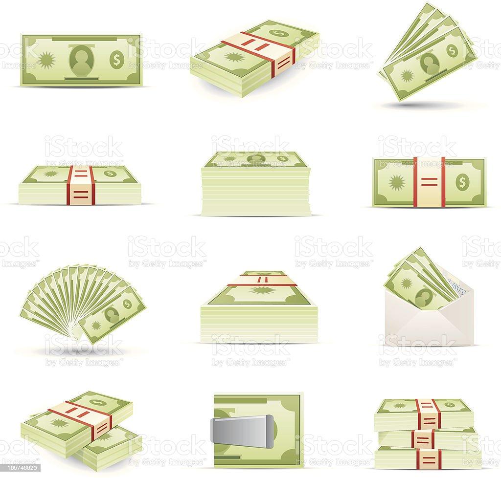 Icônes de l'argent - Illustration vectorielle