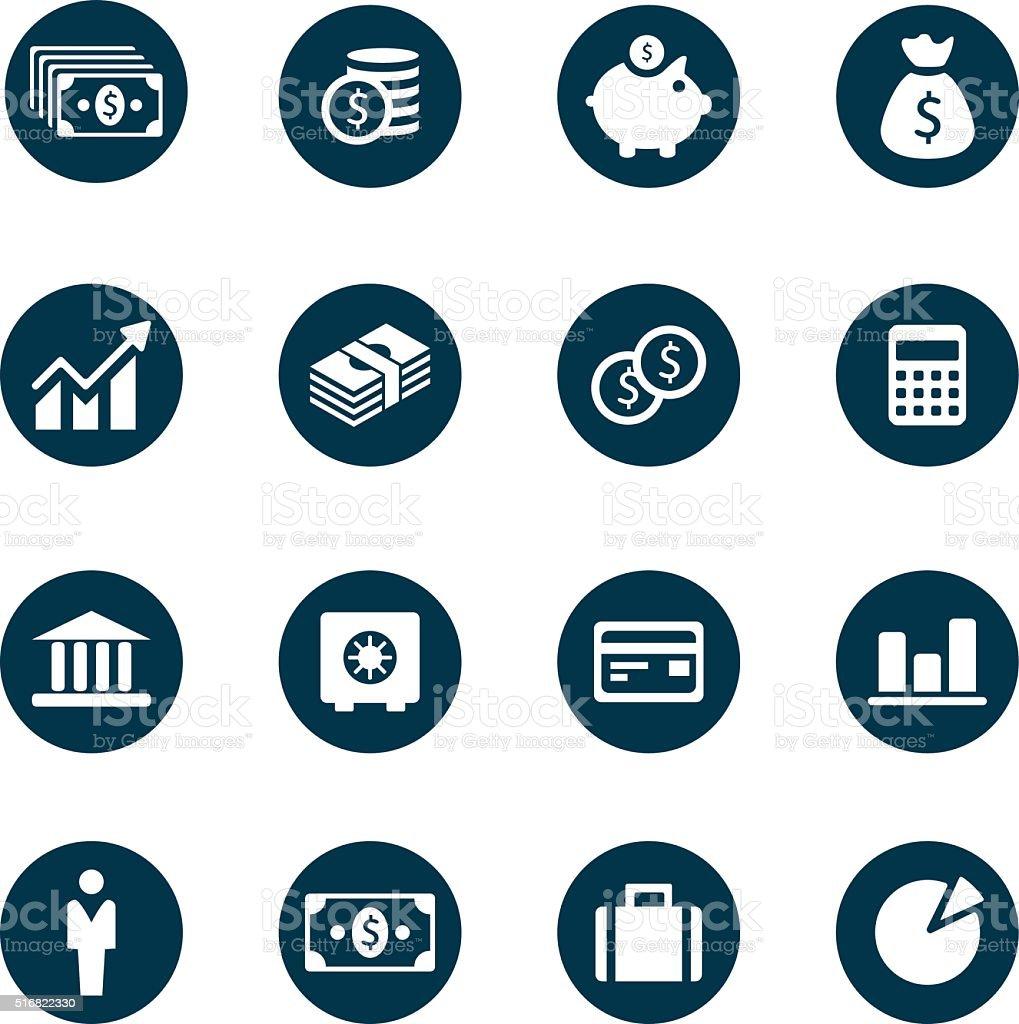 Money Icons vector art illustration