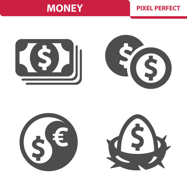 Money Icons Professional, pixel perfect icons depicting various money, finance and currency concepts. nest egg stock illustrations