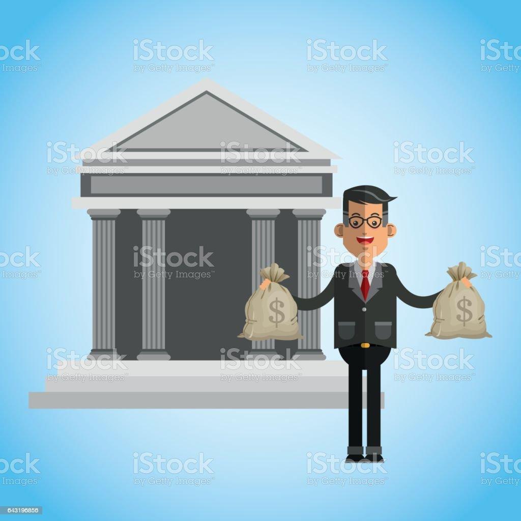 money illustration over blue background design vector art illustration