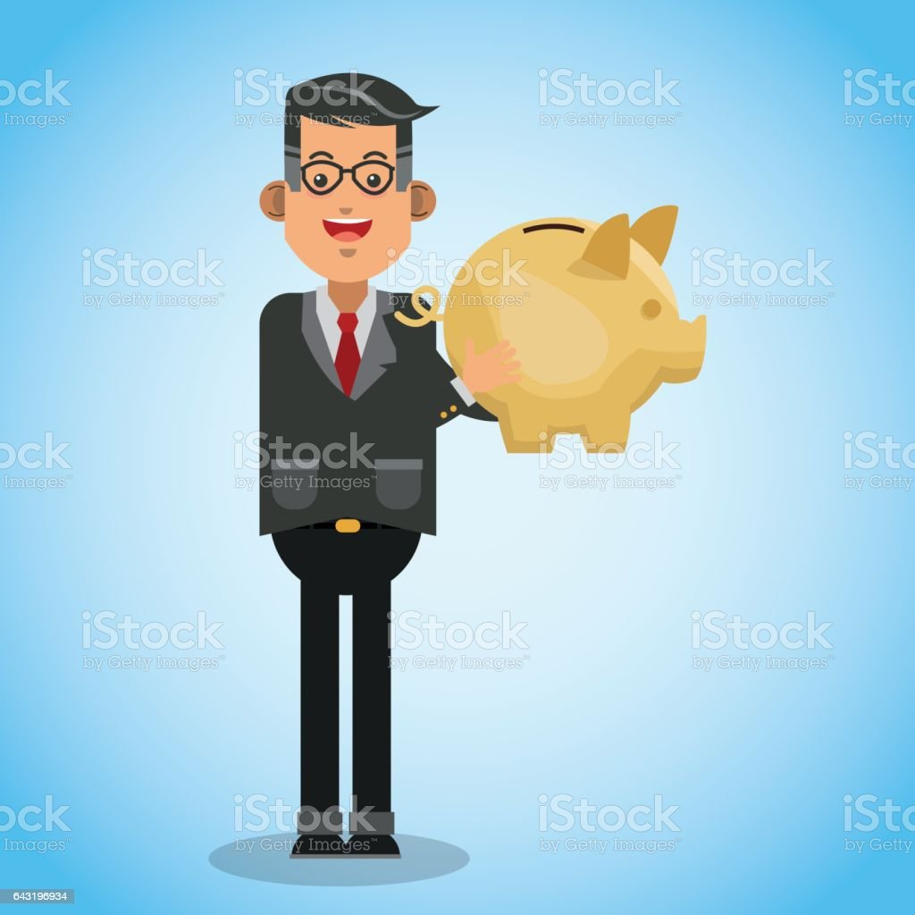 money illustration over blue background design vector art illustration