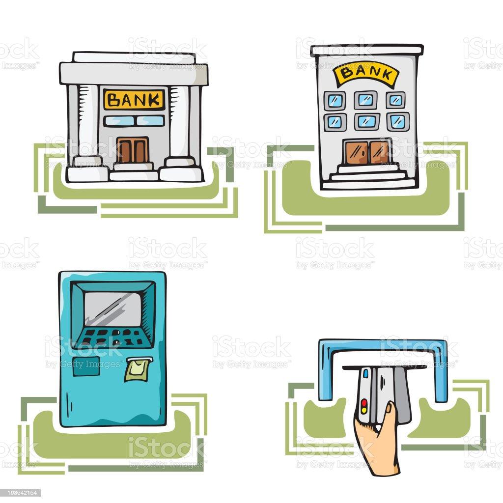 Money Illustration Series: Banking royalty-free stock vector art