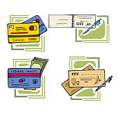 Money Illustration Series: Payment Methods (Vector)