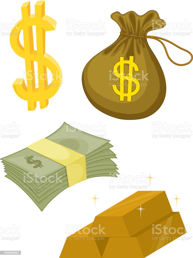 money illustration series vector art illustration
