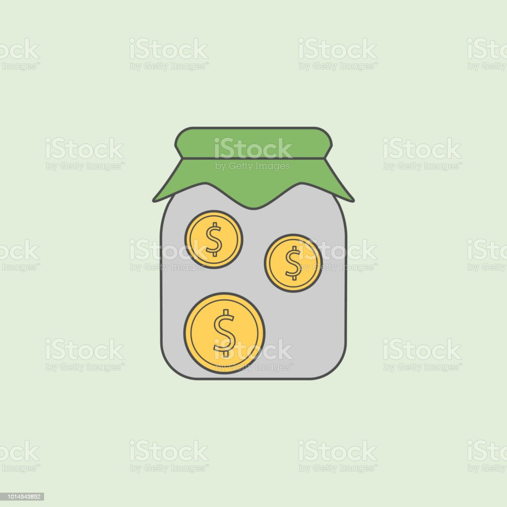 Money In Jar Icon Element Of Banking Icon For Mobile Concept
