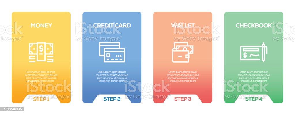 Geldinfografik Designvorlage Stock Vektor Art und mehr Bilder von ...