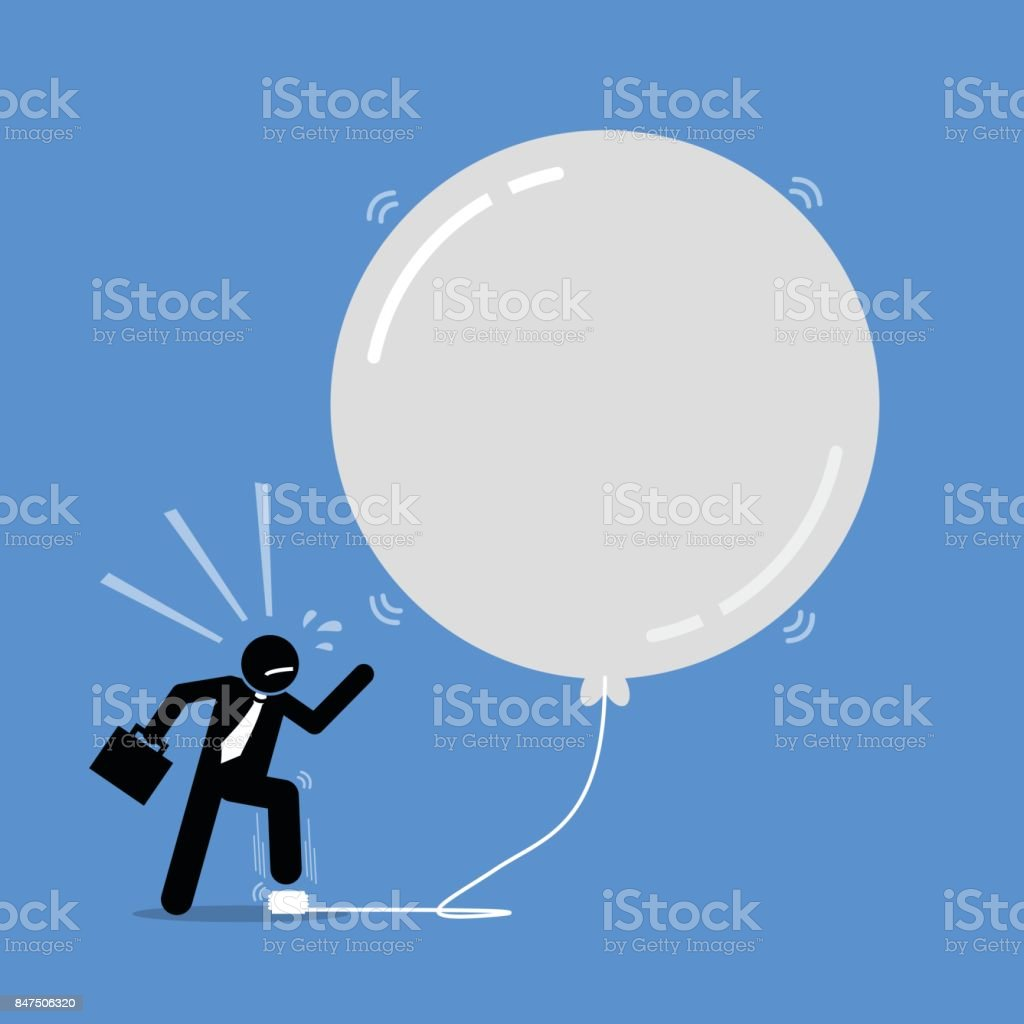 Money Investment Bubble. vector art illustration