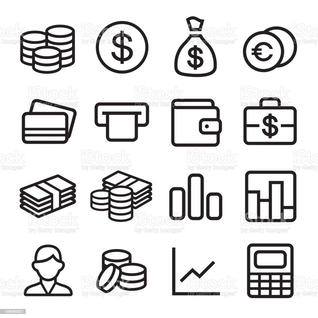 Money ios 7 icon set vector art illustration