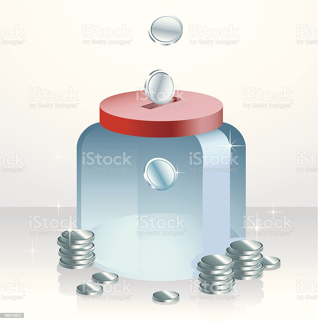 Money Jar royalty-free stock vector art