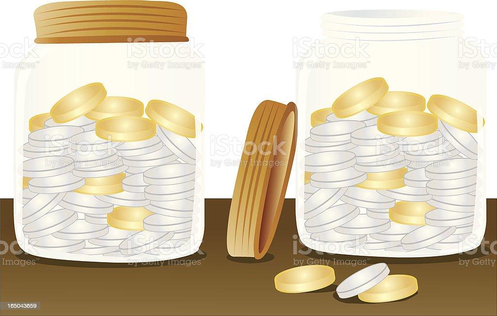 Money Jars royalty-free stock vector art
