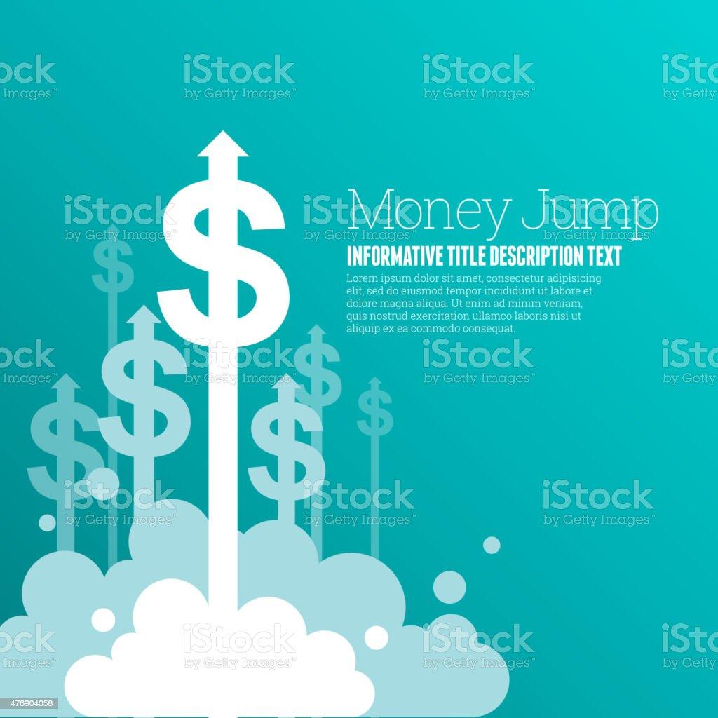 Dinheiro de salto - ilustração de arte em vetor