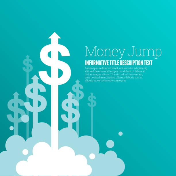 ilustrações, clipart, desenhos animados e ícones de dinheiro de salto - fazer dinheiro
