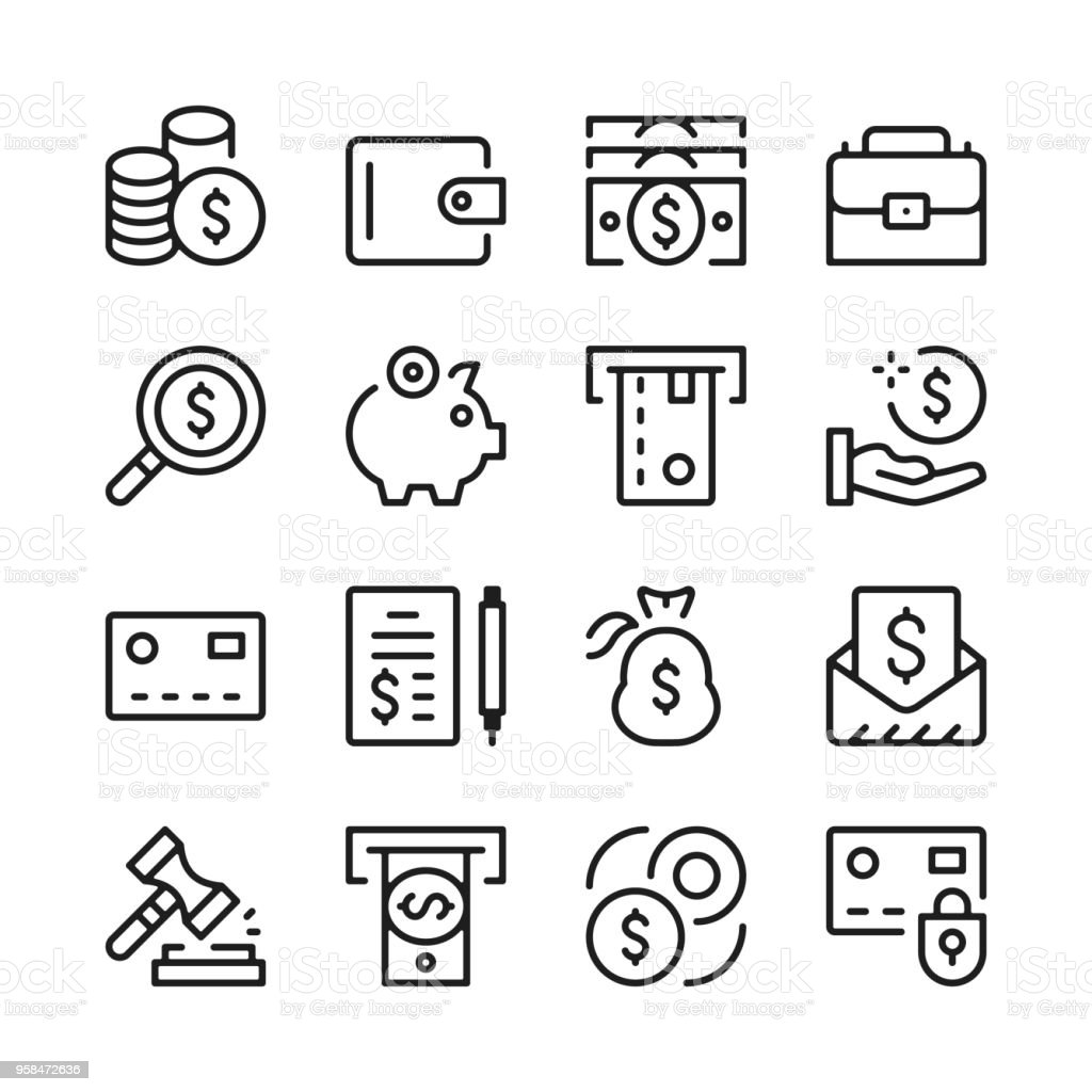 Money Line Icons Set Modern Graphic Design Concepts Simple Outline Elements Collection Vector Line Icons Stock Illustration Download Image Now Istock,Teenage Girl Latest Bridal Lehenga Designs 2020 For Wedding