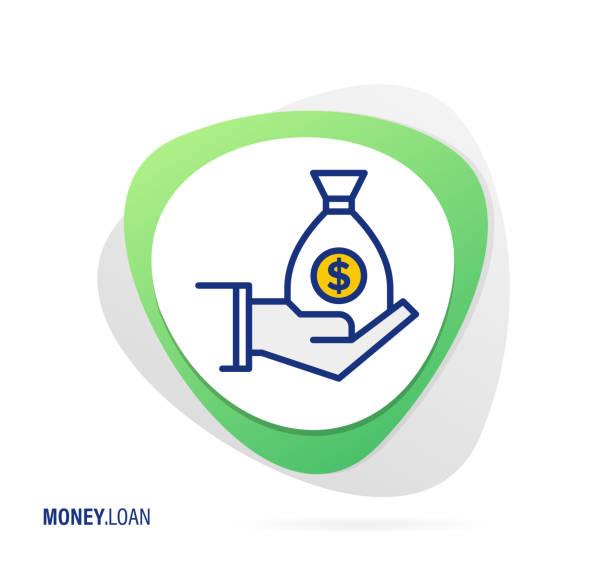 ilustrações de stock, clip art, desenhos animados e ícones de money loan icon - corruption