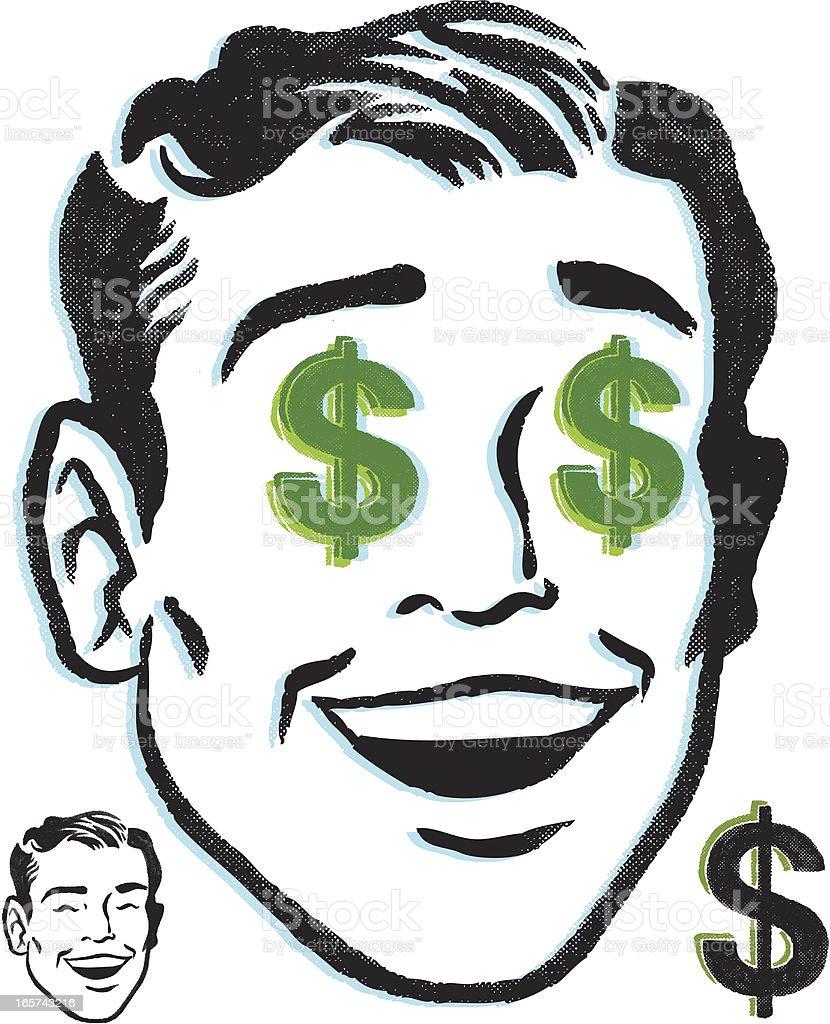 money man vector art illustration