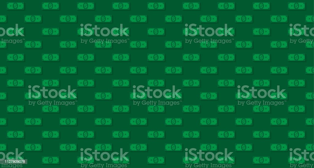 Money or finance green pattern with dollar banknotes. Banking,...