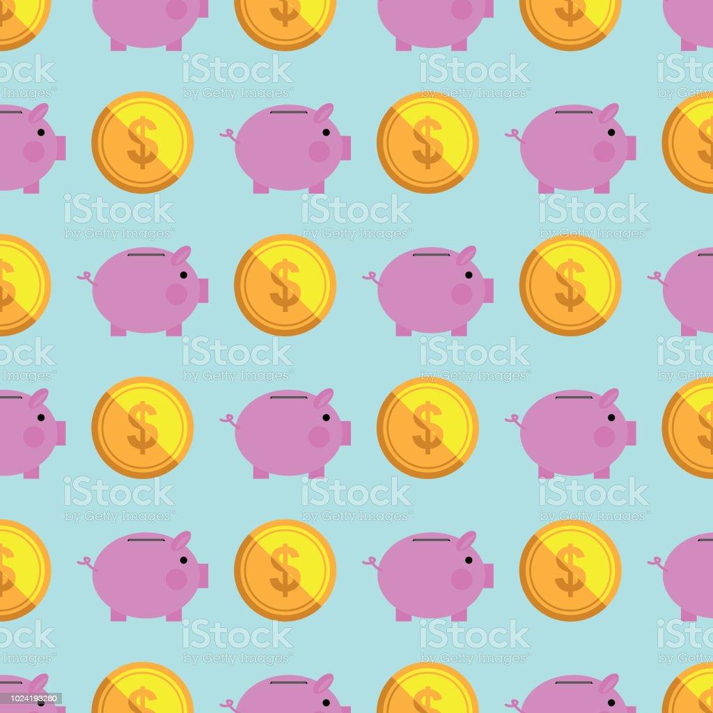 Money pattern background vector art illustration