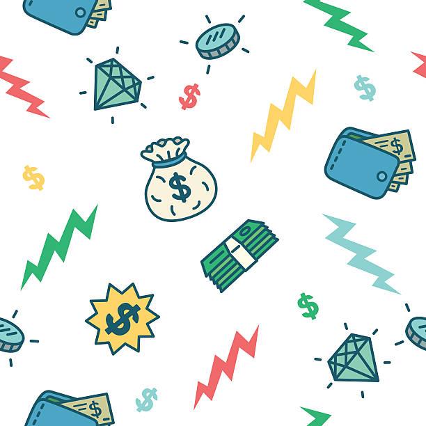 Money Pattern Seamless money mattern.  budget patterns stock illustrations