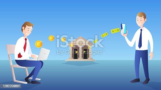 istock Money payment transfer 1282209891