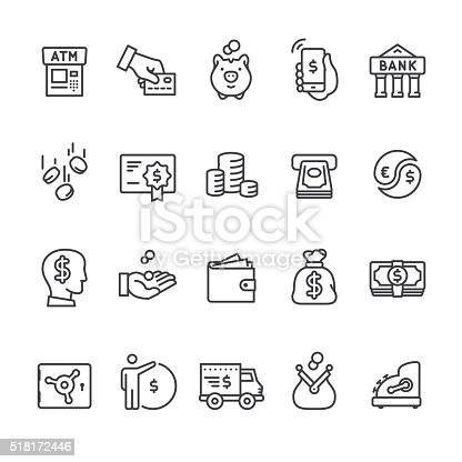 Money & Payment related vector icon set.