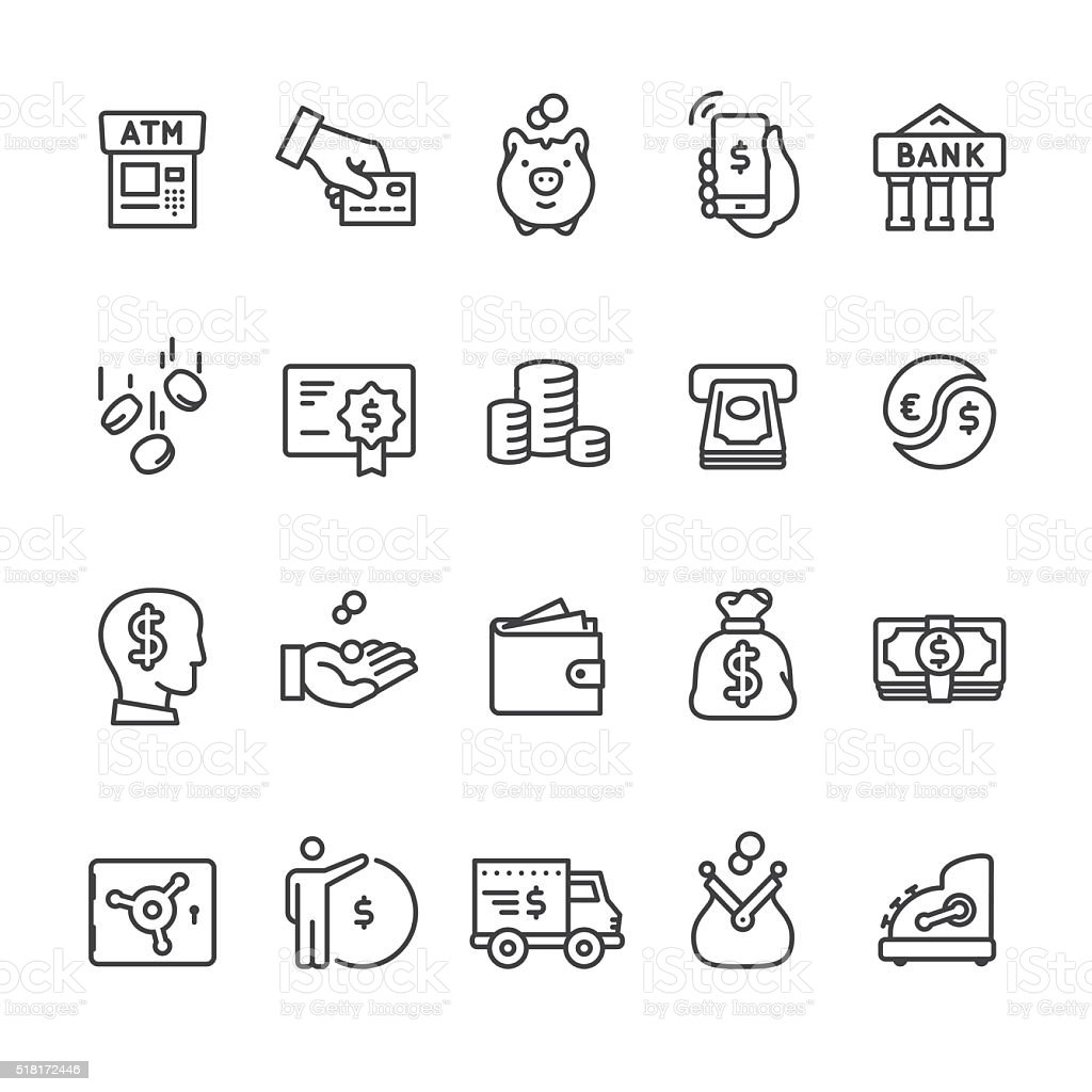 Money & Payment vector icons vector art illustration