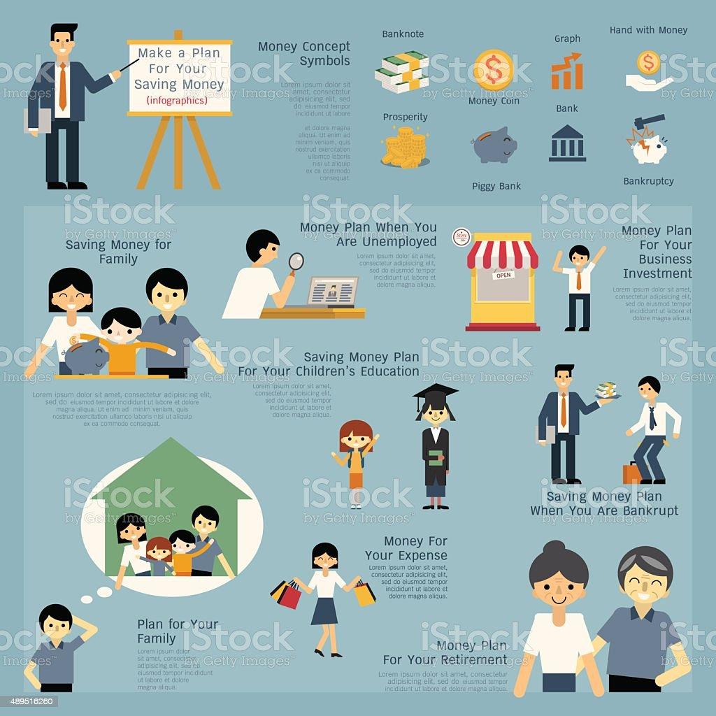 Money Plan vector art illustration