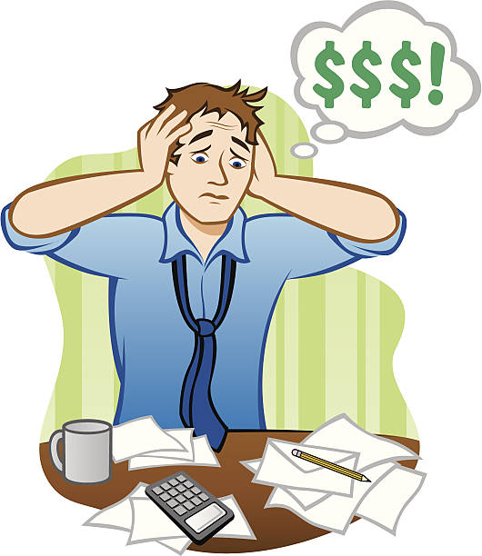 Money Problems vector art illustration