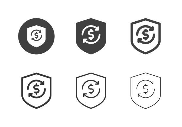 Money Protect Icons - Multi Series vector art illustration
