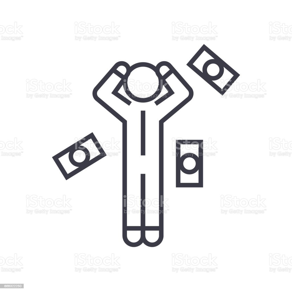 Money question man linear icon sign symbol vector on isolated money question man linear icon sign symbol vector on isolated background royalty biocorpaavc Images